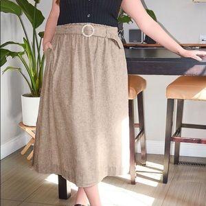 🆕 NWT Midi Linen Skirt High Waisted